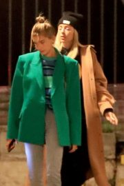 Hailey Bieber - Arrives for Wednesday church services in Beverly Hills