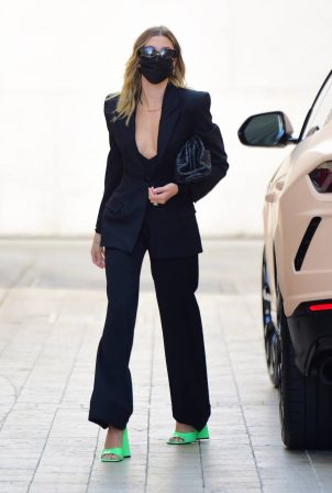 Hailey Bieber - Dons business as she stepped out in Beverly Hills