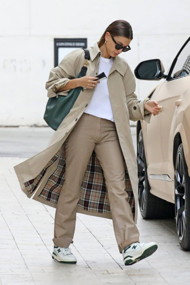 Hailey Bieber - Heads to a meeting in Los Angeles
