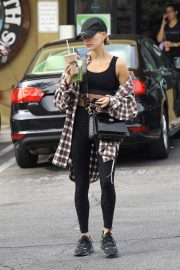 Hailey Bieber - Hitting the gym in West Hollywood