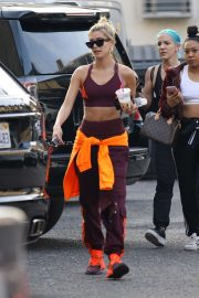 Hailey Bieber - Leaves a dance studio in West Hollywood