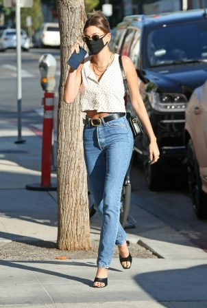 Hailey Bieber - Out and about in Beverly Hills