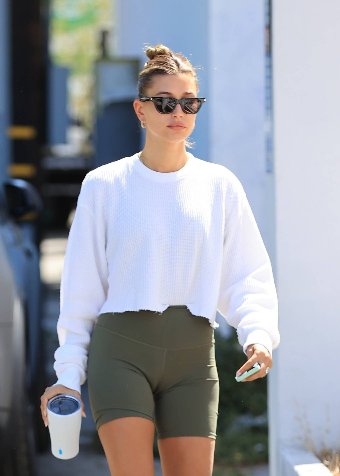 Hailey Bieber - out for workout in West Hollywood