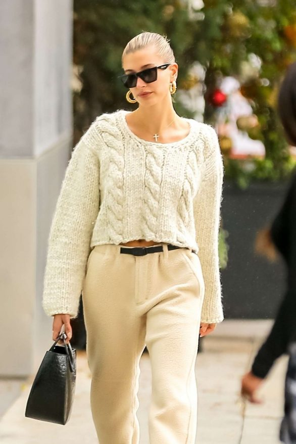 Hailey Bieber - Out running errands in Beverly Hills