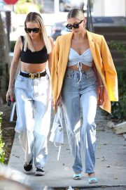 Hailey Bieber - Out with her stylist in West Hollywood