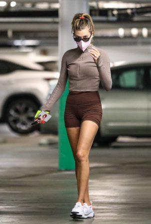 Hailey Bieber - Seen alone in Santa Monica