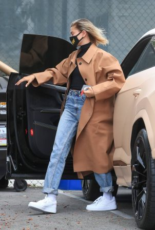Hailey Bieber - Seen at a studio in Studio City