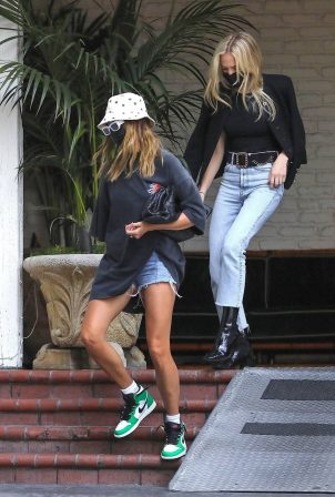 Hailey Bieber - Seen exiting Chateau Marmont Hotel in Los Angeles