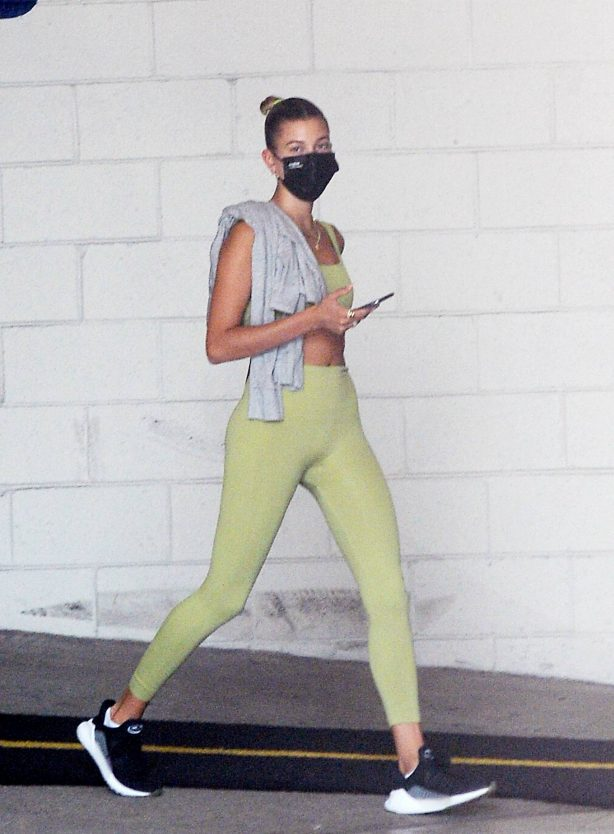 Hailey Bieber - Seen headed to a gym in Los Angeles