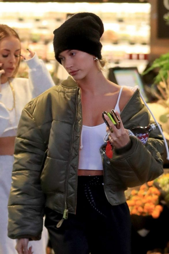 Hailey Bieber - Shopping at Erewhon Market in Los Angeles
