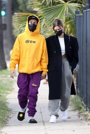 Hailey Bieber - Steps out in Los Angeles