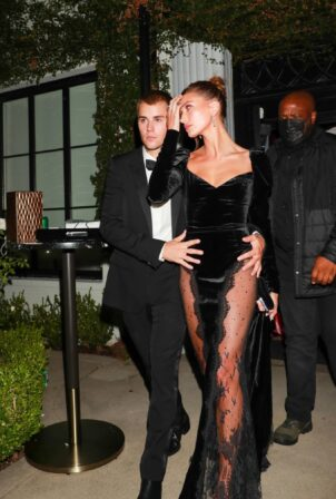 Hailey Bieber - With Justin Bieber celebrate opening of Justin's art gallery auction in Hollywood
