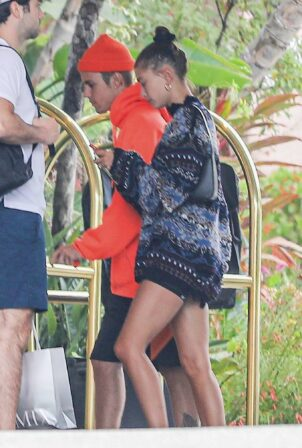 Hailey Bieber -With Justin Bieber seen at the Beverly Hills Hotel