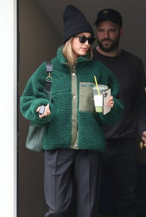 Hailey Bieber - With Scooter Braun in Los Angeles