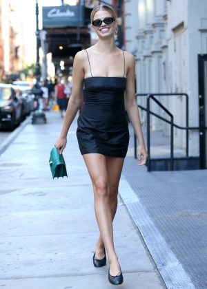 Hailey Clausen In Little Black Dress Leaving Lure
