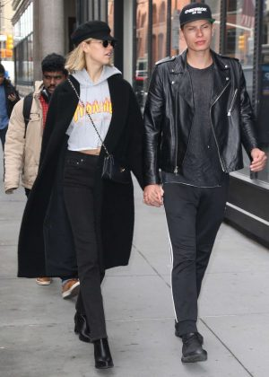 Hailey Clauson and her boyfriend Julian Herrera out in NYC