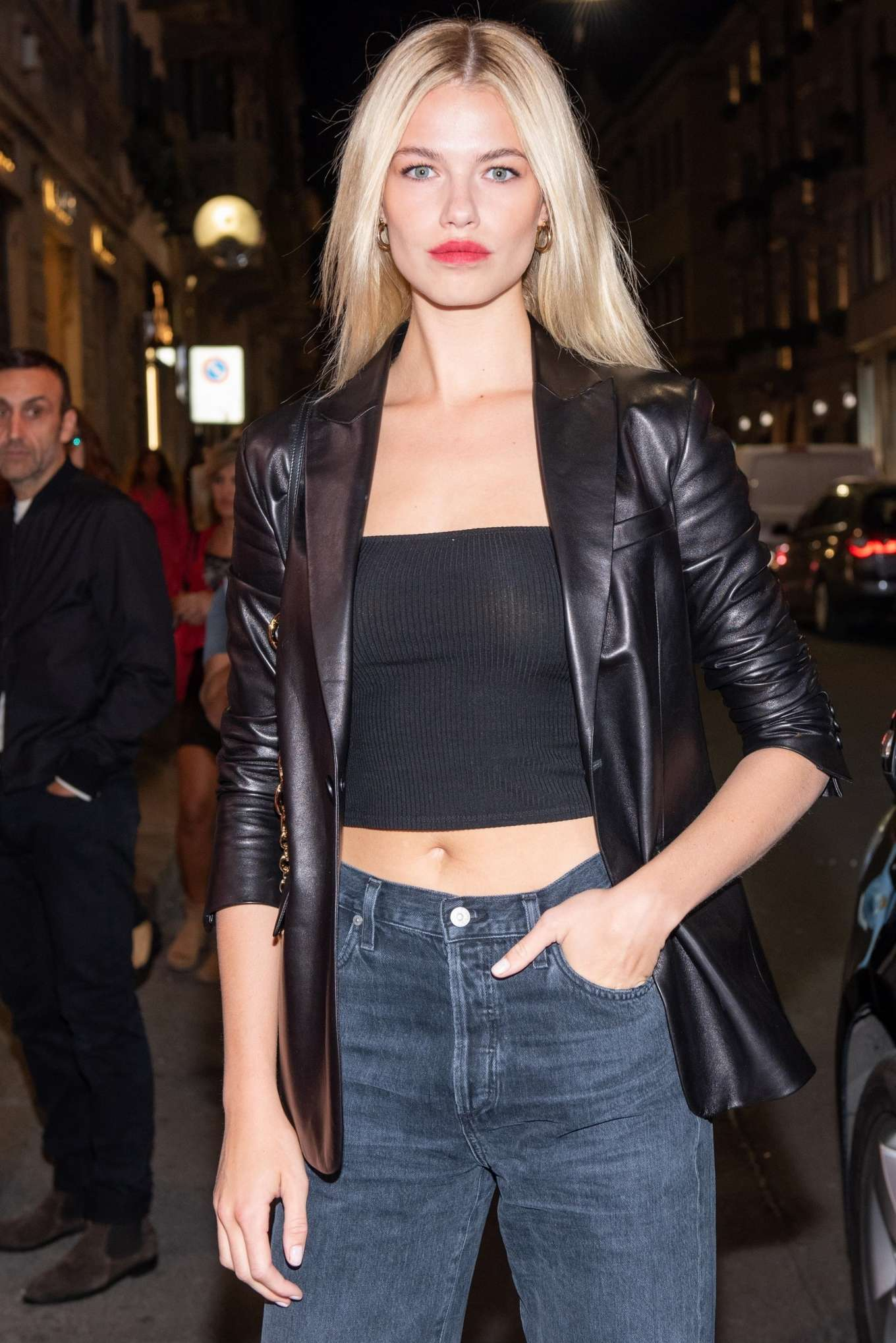 Hailey Clauson - Arrives at Tod's store opening at Milan Fashion Week
