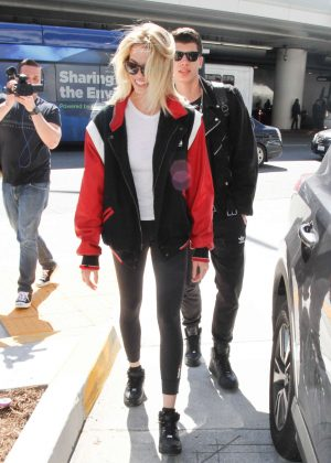 Hailey Clauson at LAX airport in Los Angeles