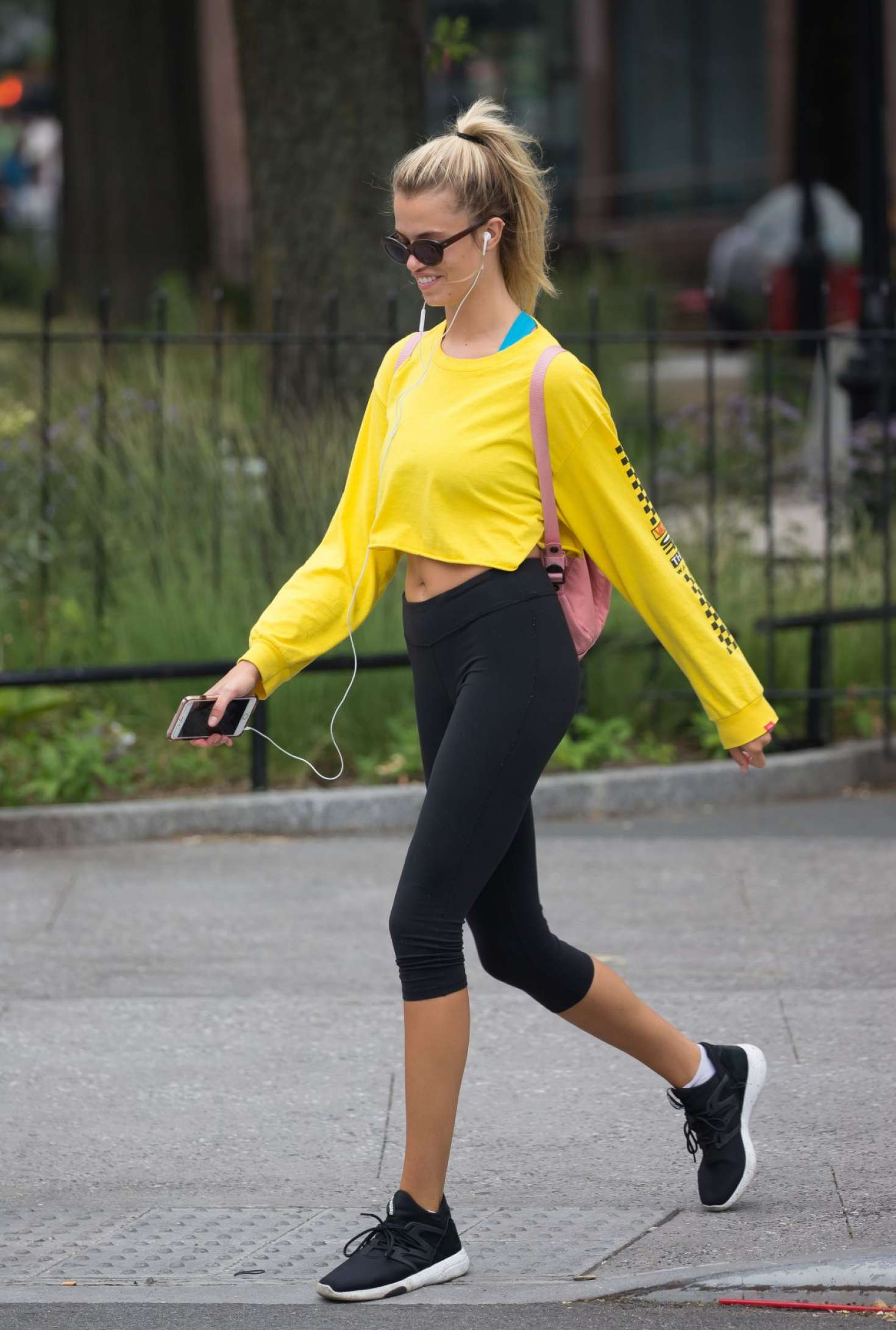 Hailey Clauson - Heading to a Gym in New York