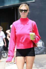 Hailey Clauson in Shorts - Leaving the Dosist Dispensary in Venice Beach