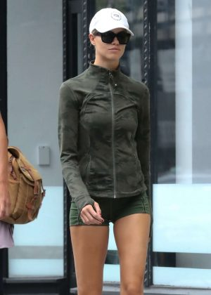 Hailey Clauson in Shorts - Out in New York