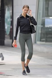 Hailey Clauson - Leaving a gym in Beverly Hills