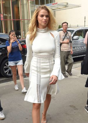 Hailey Clauson out in New York City
