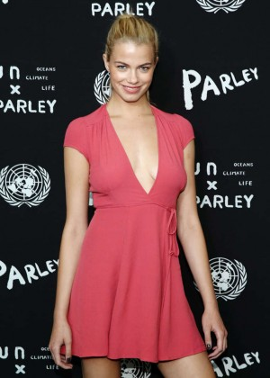 Hailey Clauson - United Nations x Parley For The Oceans Launch Event in NYC