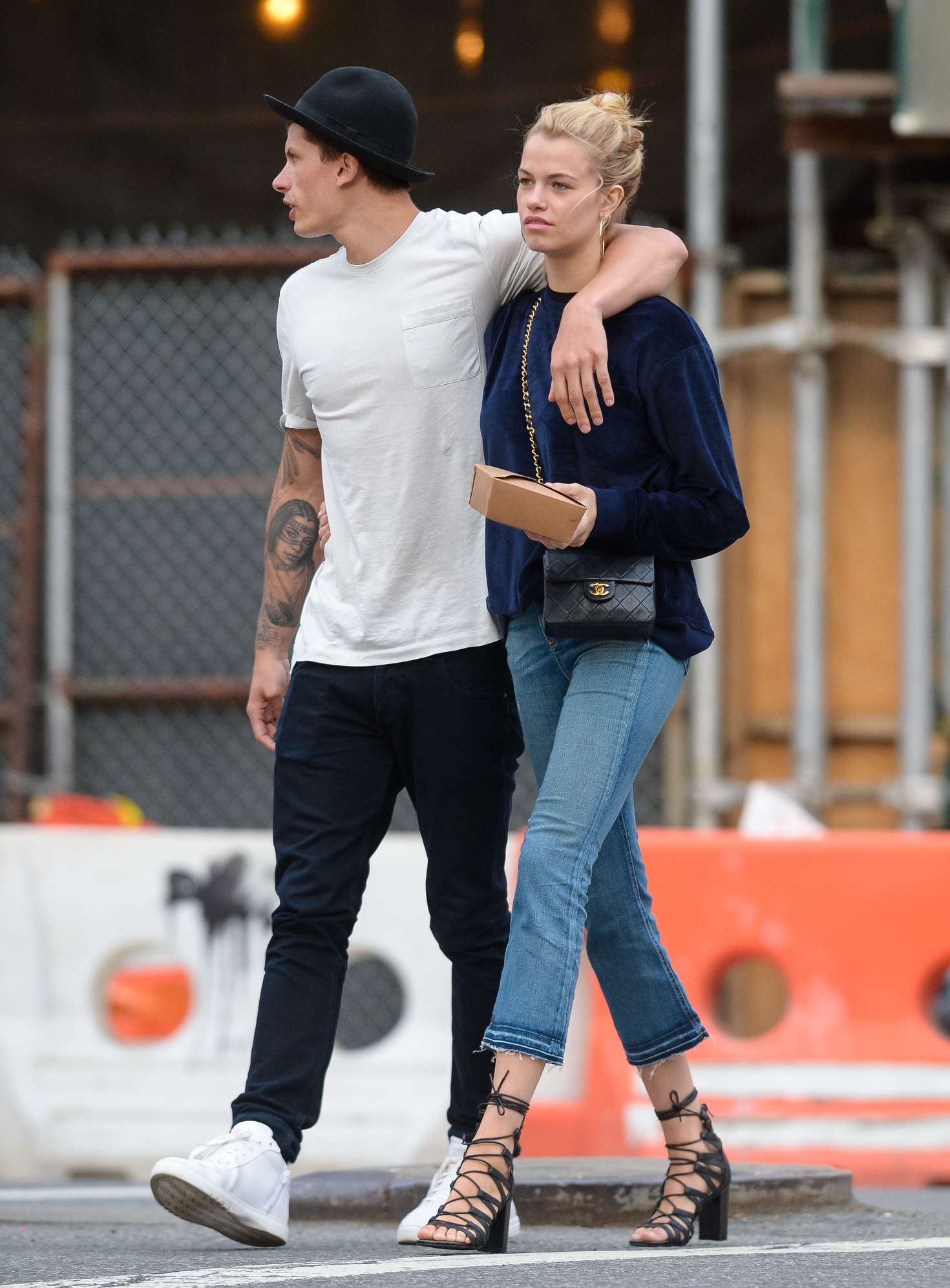 Hailey Clauson with boyfriend out in New York