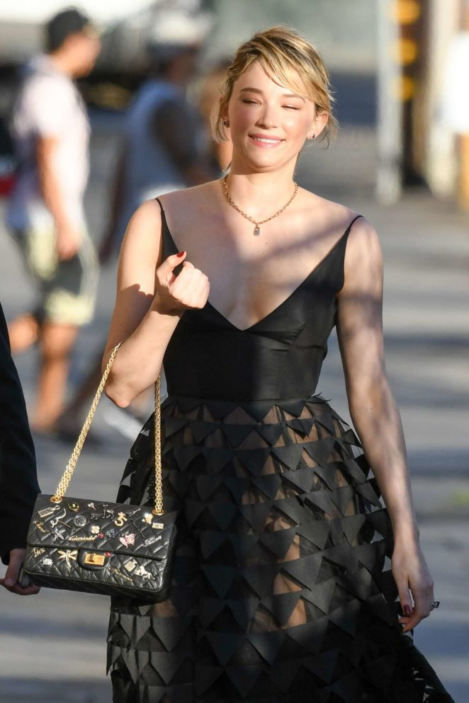 Haley Bennett - Arriving at Jimmy Kimmel Live! in LA