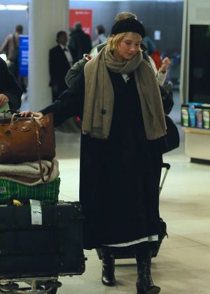 Haley Bennett at JFK Airport in NYC