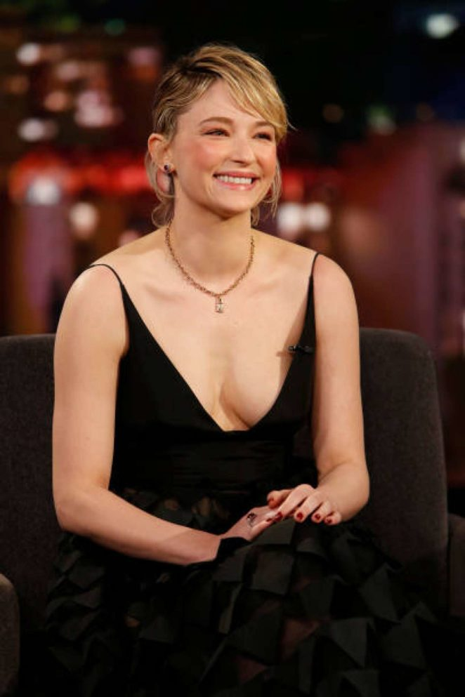 Haley Bennett at Jimmy Kimmel Live! in Los Angeles