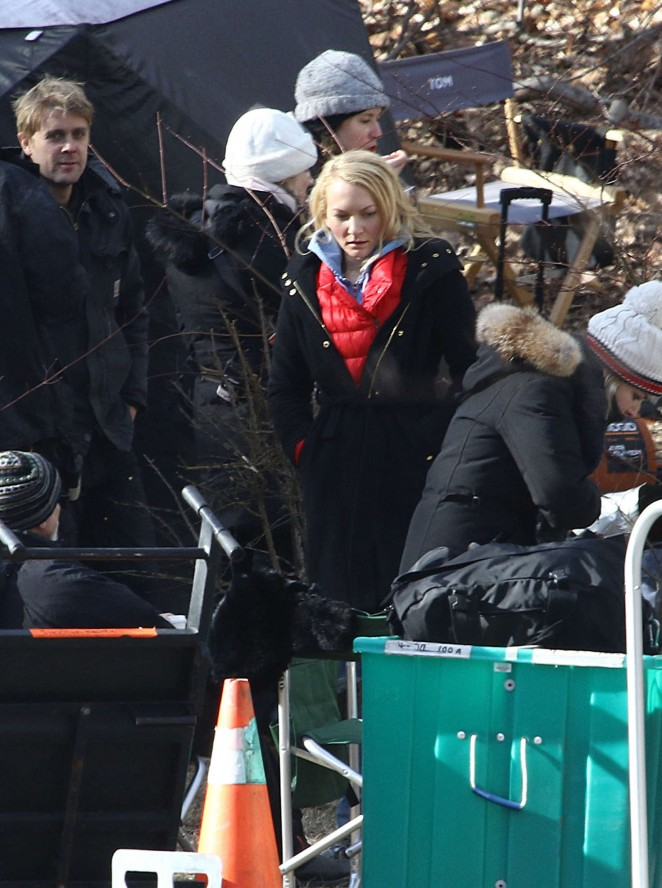 Haley Bennett – Filming 'The Girl on The Train' in NY
