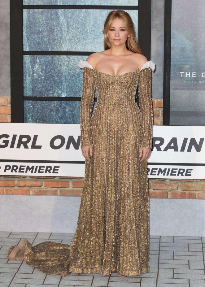 Haley Bennett – 'The Girl On The Train' Premiere in London