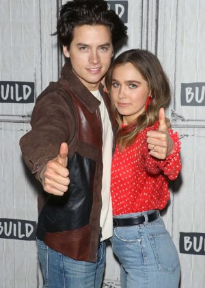 Haley Lu Richardson and Cole Sprouse - Visits Build to discuss 'Five Feet Apart' at Build Studio in NYC