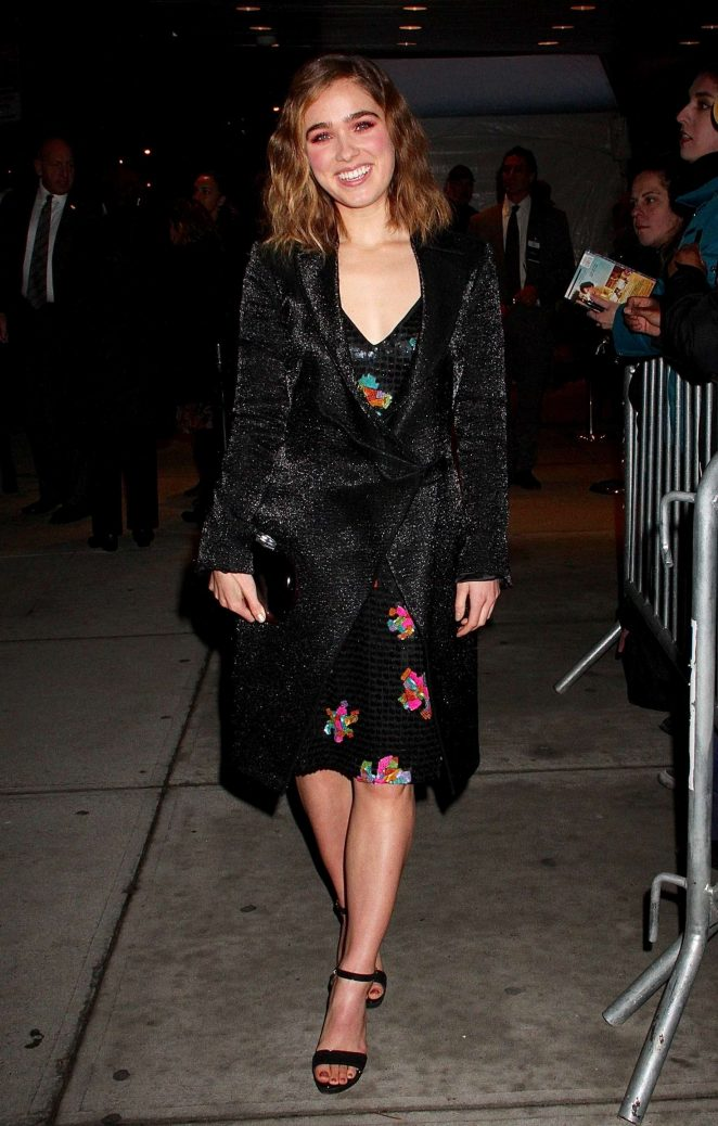 Haley Lu Richardson - Arriving at the Premiere of 'Split' in NYC