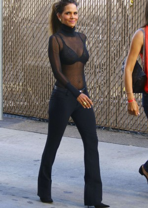 Halle Berry Hot at Jimmy Kimmel Live -01