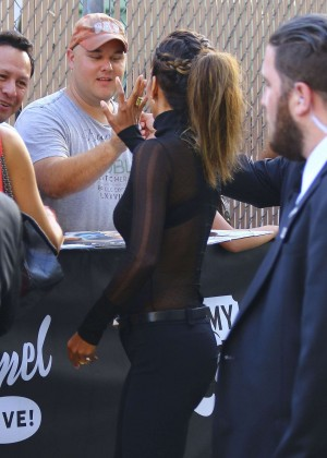 Halle Berry Hot at Jimmy Kimmel Live -02