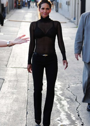 Halle Berry Hot at Jimmy Kimmel Live -03