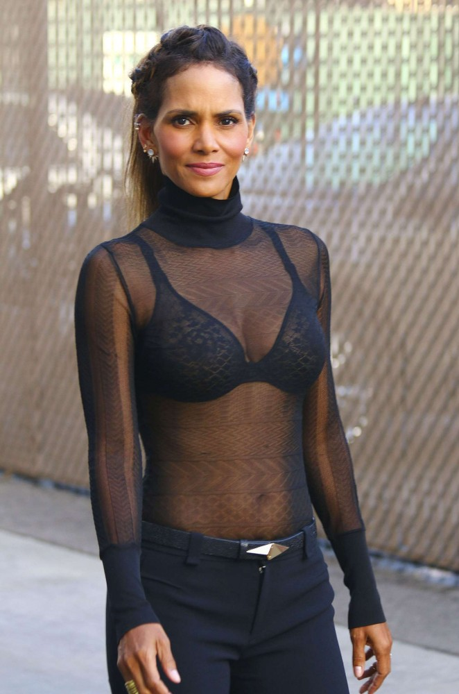Halle Berry Hot at 'Jimmy Kimmel Live' in Hollywood