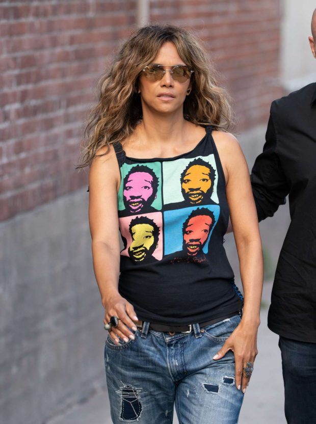 Halle Berry - Arrives at 'Jimmy Kimmel Live' in Hollywood