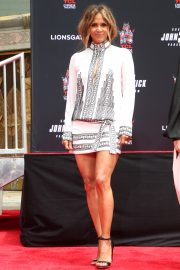 Halle Berry - Handprint Ceremony honoring Keanu Reeves in Hollywood