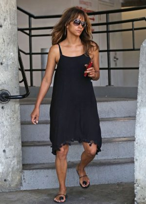 Halle Berry in Black Dress out in Los Angeles