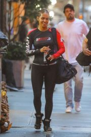 Halle Berry in Tights - Leaving the gym in NYC