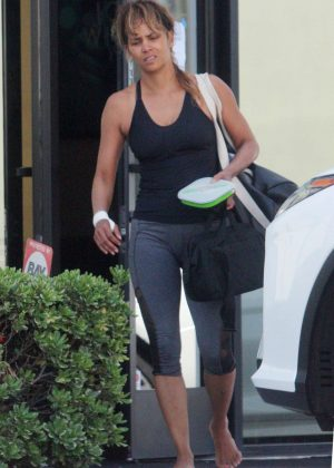 Halle Berry - Leaves Jujutsu gym in Los Angeles