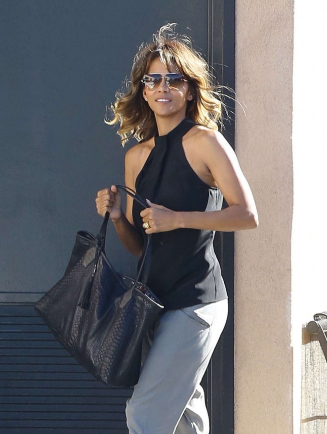 Halle Berry Leaves Office in Los Angeles