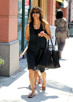 Halle Berry in Black Dress out in California