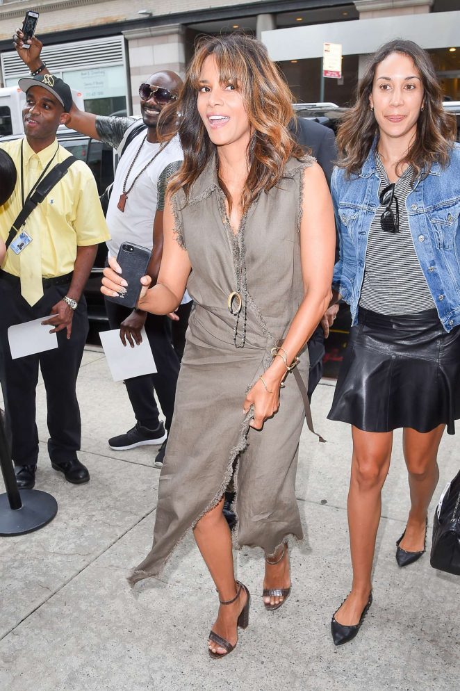 Halle Berry out in Soho