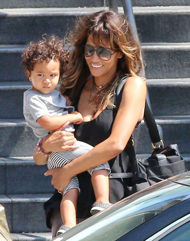 Halle berry out with her son in century city