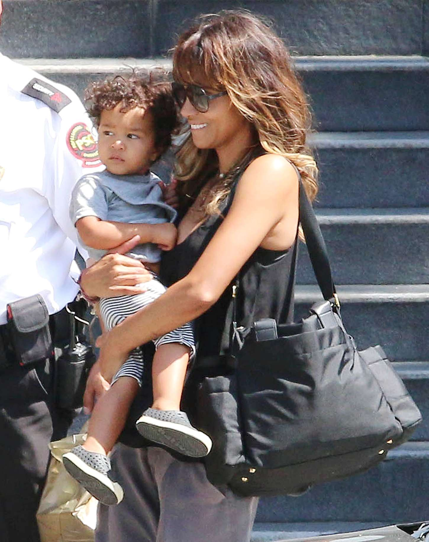 Back to post halle berry out with her son in century city